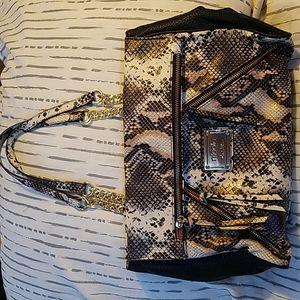 Nicole Miller Snake Pattern Tote Bag